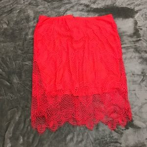 NWT PLUS size Torrid Knee Length Lace Skirt